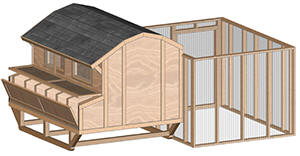 Large portable barn style chicken house