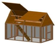 Double story chicken coop